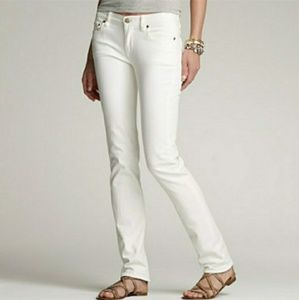J. Crew White Matchstick Jeans Size 28R Straight